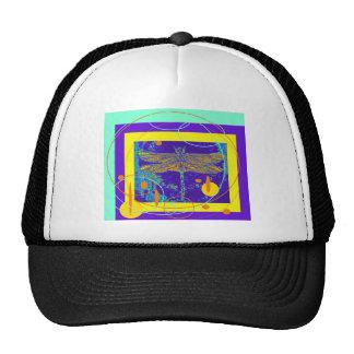 Golden Dragonfly Purple Design by Sharles Mesh Hat
