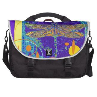 Golden Dragonfly Purple Design by Sharles Computer Bag