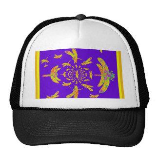 Golden Dragonfly s Purple Gifts Trucker Hat