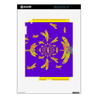 Golden Dragonfly s Purple Gifts Skin For iPad 2