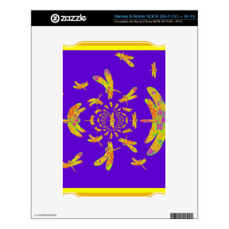 Golden Dragonfly s Purple Gifts NOOK Skin