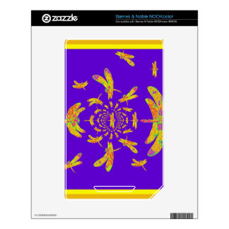 Golden Dragonfly s Purple Gifts Skins For NOOK Color