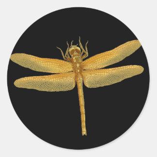Golden Dragonfly Sticker