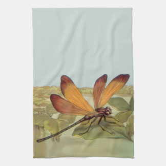 Golden Dragonfly Towel
