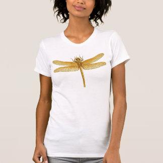 Golden Dragonfly V-Neck T-Shirt