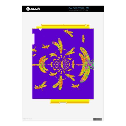 Golden Dragonfly's Purple Gifts Skin For iPad 2