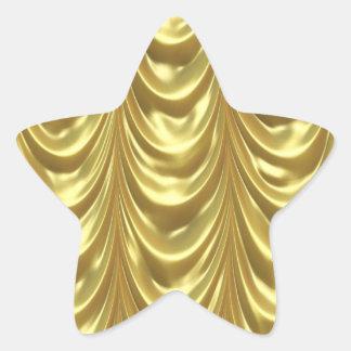 Golden Drapes Star Sticker