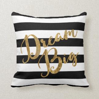 Golden Dream Big Stripes Throw Pillow