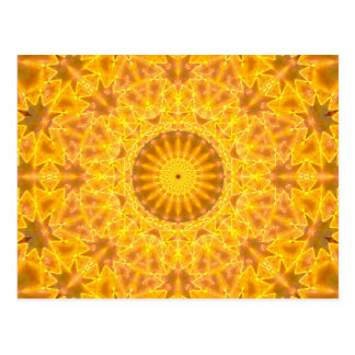 Golden Dreams Mandala Postcard