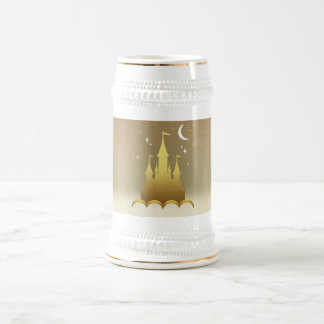 Golden Dreamy Castle In The Clouds Starry Moon Sky 18 Oz Beer Stein