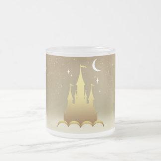 Golden Dreamy Castle In The Clouds Starry Moon Sky Coffee Mug