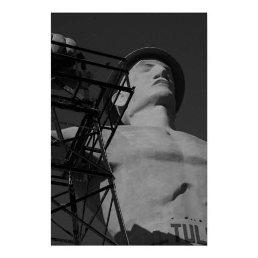 Golden Driller Statue, Tulsa, Oklahoma. 2009 Poster