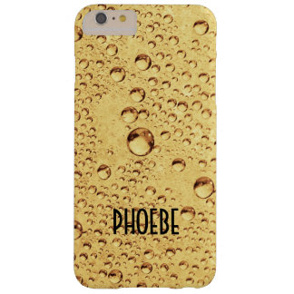 Golden Drops with Name Barely There iPhone 6 Plus Case