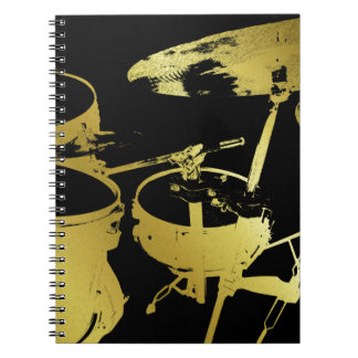 Golden Drum Set Notebook