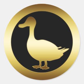 GOLDEN DUCK ROUND STICKER