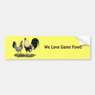 Golden Duckwing Chickens Bumper Sticker