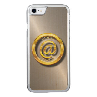 Golden E-Mail Symbol 3D With Shadows Carved iPhone 8/7 Case