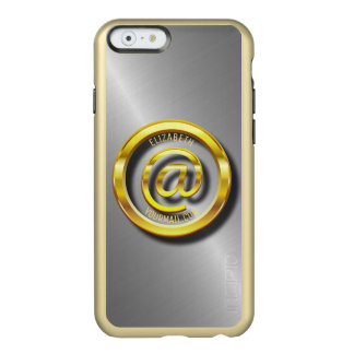 Golden E-Mail Symbol 3D With Shadows Incipio Feather Shine iPhone 6 Case