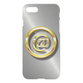 Golden E-Mail Symbol 3D With Shadows iPhone 8/7 Case
