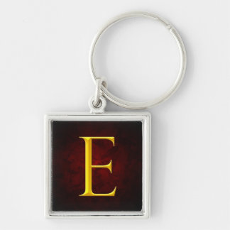 Golden E Monogram Key Chain
