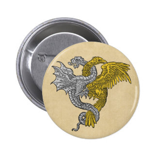 Golden Eagle and Silver Dragon Pins