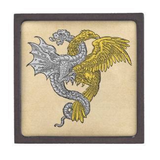 Golden Eagle and Silver Dragon Premium Keepsake Box