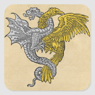 Golden Eagle and Silver Dragon Sticker