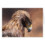 Golden Eagle Blank Card by Andrew Denman