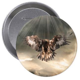 Golden Eagle Pinback Buttons