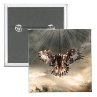 Golden Eagle Pinback Button
