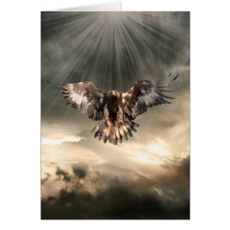 Golden Eagle Stationery Note Card
