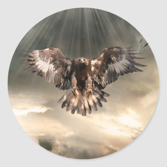 Golden Eagle Classic Round Sticker