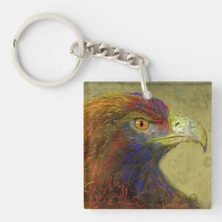 golden eagle acrylic key chain