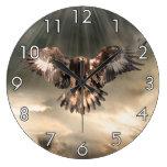 Golden Eagle Large Clock