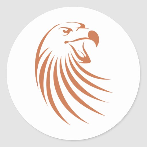 Golden Eagle Logo Sticker