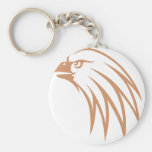 Golden Eagle Looking Out Keychain