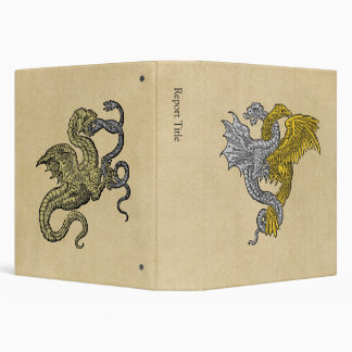 Golden Eagle Silver Dragon Vinyl Binder