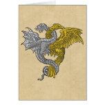 Golden Eagle Silver Dragon Card