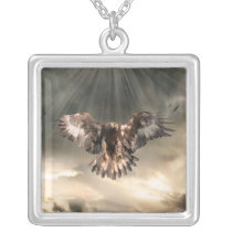 Golden Eagle Silver Plated Necklace