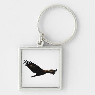 Golden Eagle Soaring Key Chains