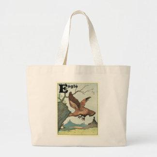 Golden Eagle Story Book Alphabet Jumbo Tote Bag