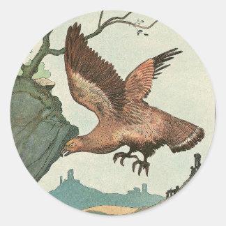 Golden Eagle Story Book Alphabet Classic Round Sticker