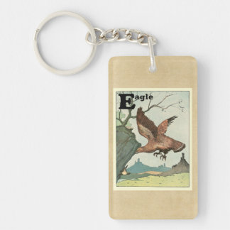 Golden Eagle Story Book Alphabet Keychain
