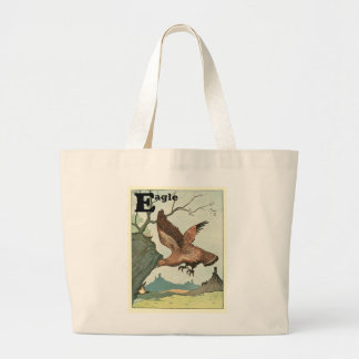 Golden Eagle Story Book Alphabet Large Tote Bag