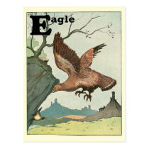 Golden Eagle Story Book Alphabet Postcard