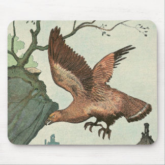 Golden Eagle Story Book Illustrated Mouse Pad