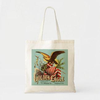 Golden Eagle Tobacco Patriotic Antique Advertising Budget Tote Bag