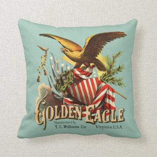 Golden Eagle Tobacco Patriotic Antique Advertising Pillow