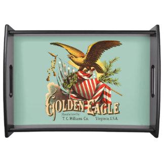 Golden Eagle Tobacco Patriotic Antique Advertising Serving Tray