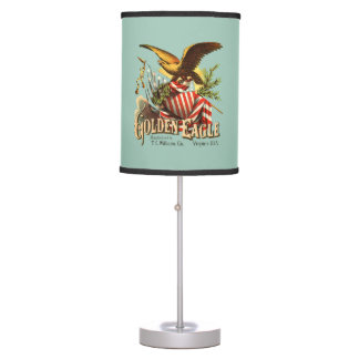 Golden Eagle Tobacco Patriotic Antique Advertising Table Lamp
